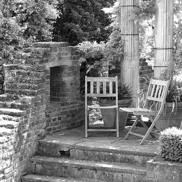 """Garden Furniture"" stock image"