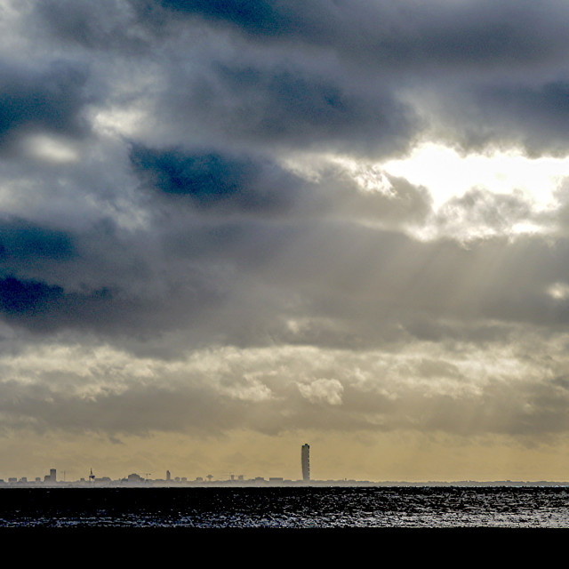 """""""Malmö from distance"""" stock image"""