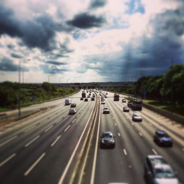 """""""M1 Motorway"""" stock image"""