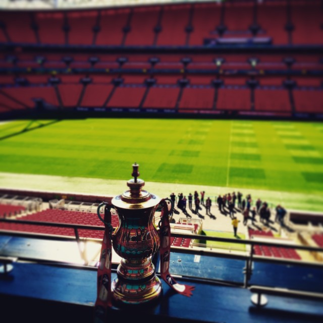 """FA Cup at Wembley"" stock image"