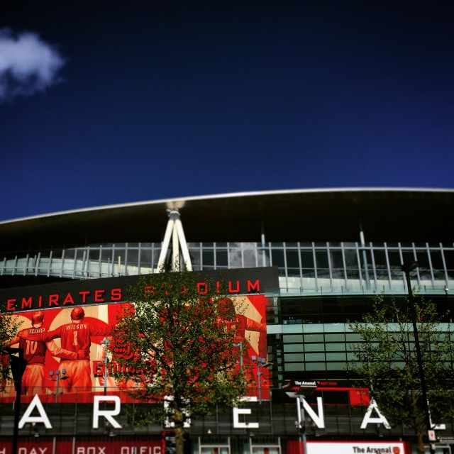 """Arsenal Emirates Stadium"" stock image"