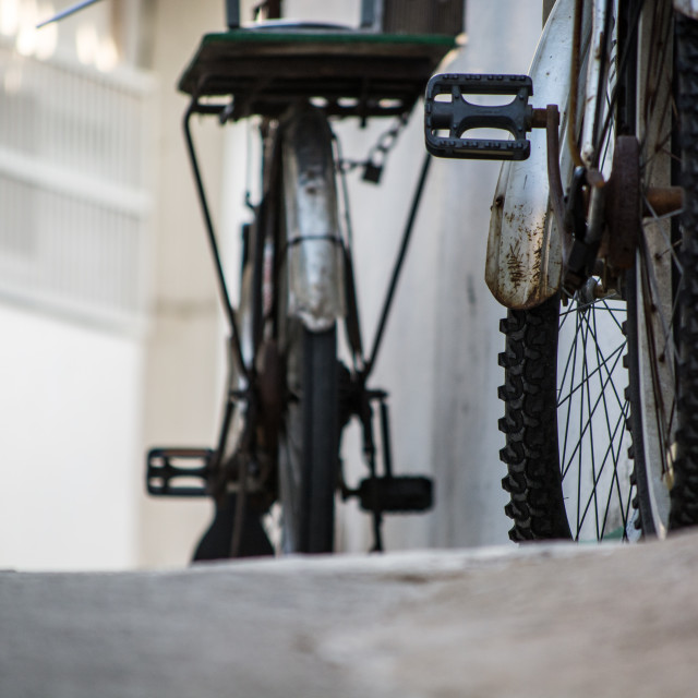 """Alleyway Bicycles"" stock image"