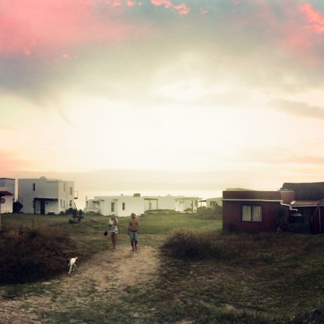 """Sunset at Cabo Polonio, Uruguay"" stock image"