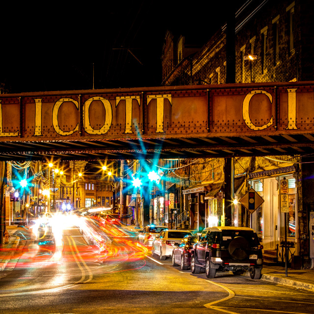 """Lighting Up Ellicott City"" stock image"