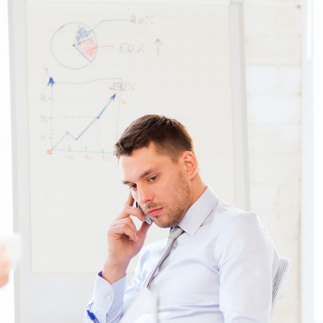 """""""stressed male boss on business meeting"""" stock image"""