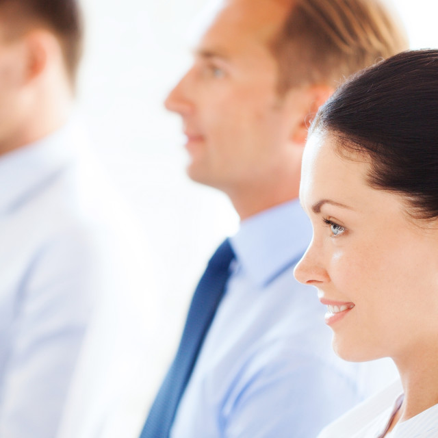 """""""businessmen and businesswomen on conference"""" stock image"""