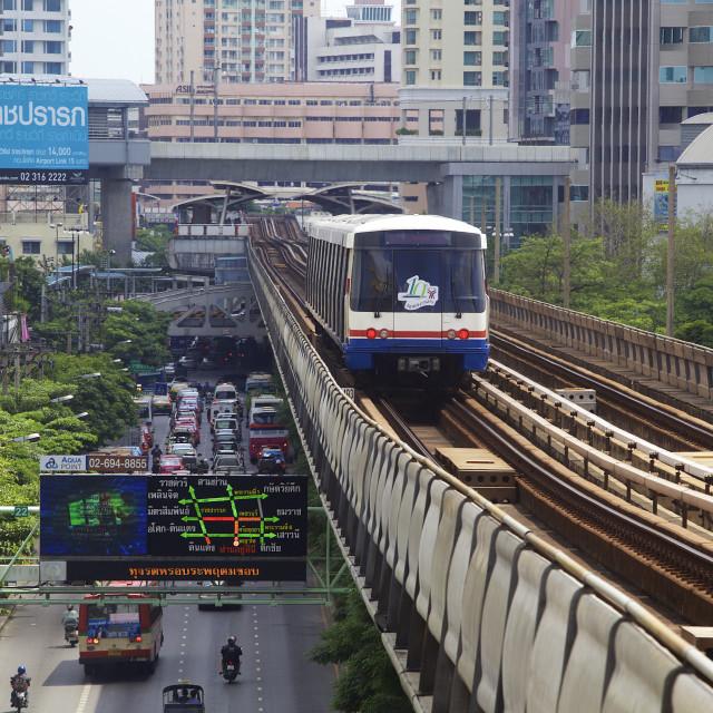 """Bangkok skytrain"" stock image"