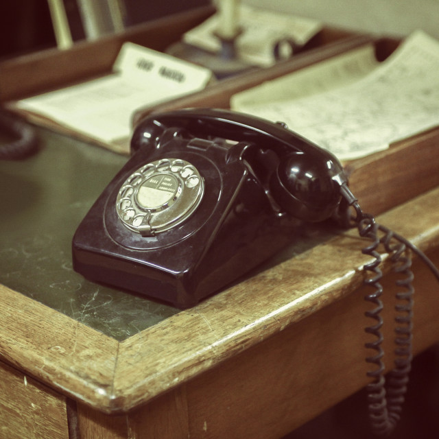 """Old telephone"" stock image"