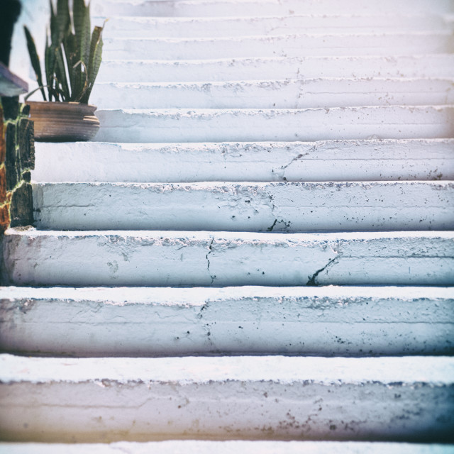 """Blue white steps"" stock image"