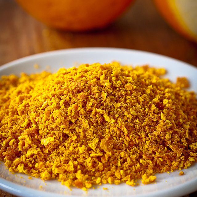 """Grated orange rind"" stock image"