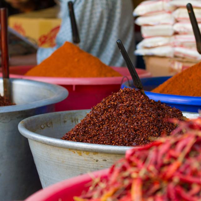 """Red chilli powder"" stock image"