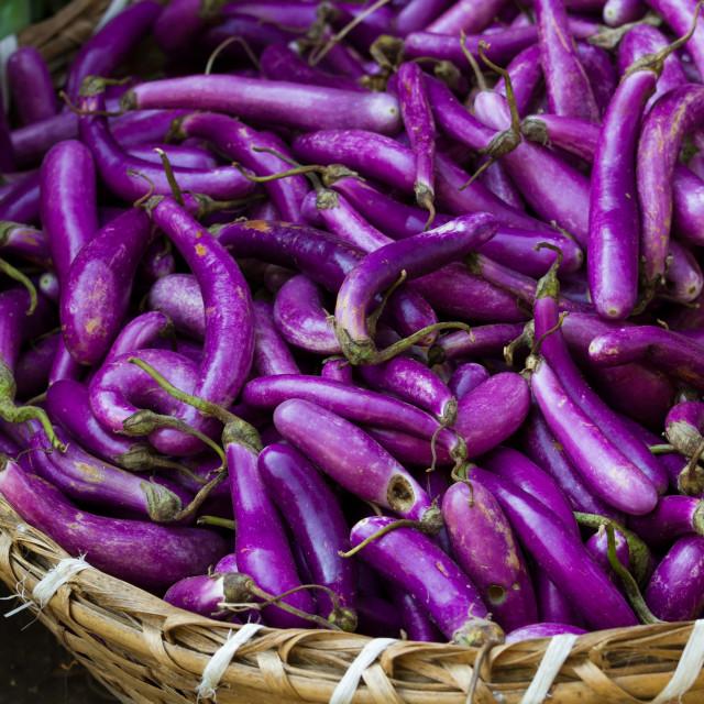 """""""Purple aubergines"""" stock image"""