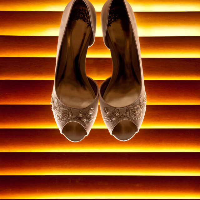"""""""Shoes on a Blind"""" stock image"""