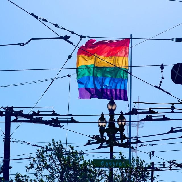 """Rainbow flag"" stock image"