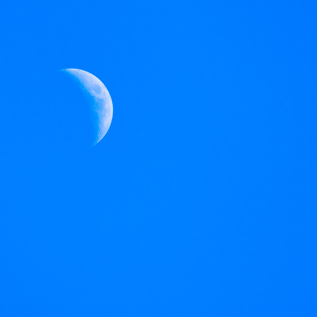 """""""Afternoon moon"""" stock image"""