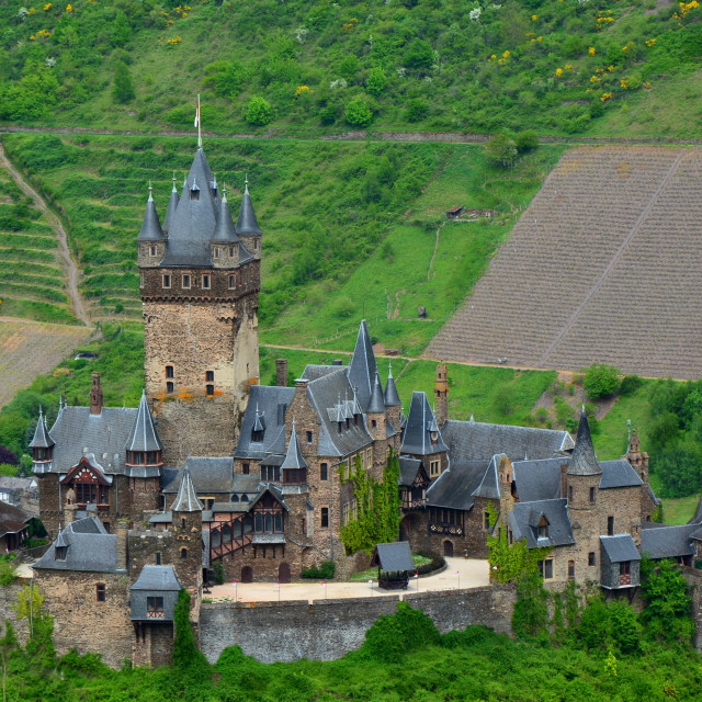 """Reichsburg Castle"" stock image"