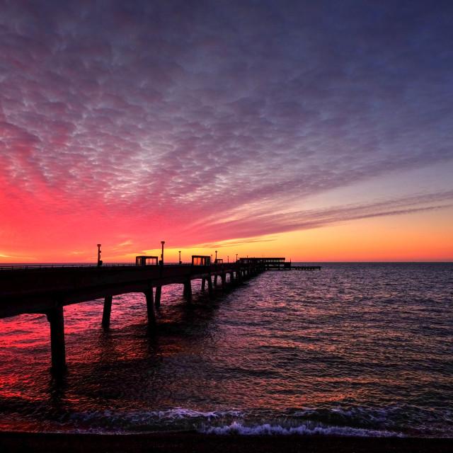 """Deal pier sunrise"" stock image"