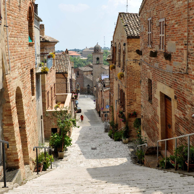 """Ripatransone, Le Marche Italy"" stock image"