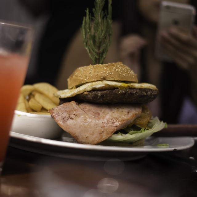 """Ham + Burger"" stock image"