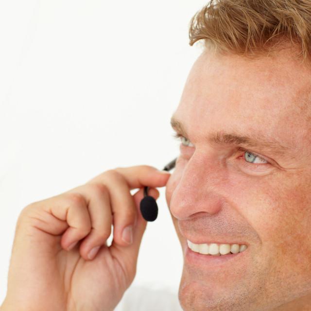 """Call center operator"" stock image"