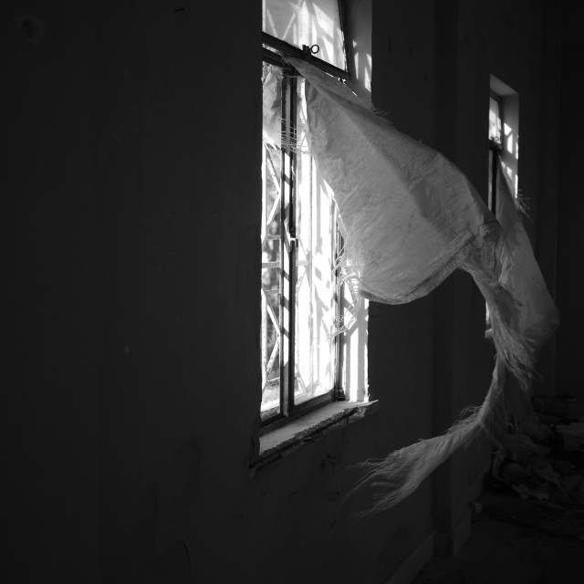 """curtains and ghosts"" stock image"