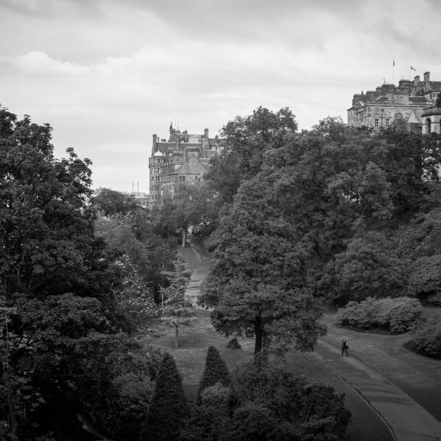 """East Princes Street Gardens"" stock image"