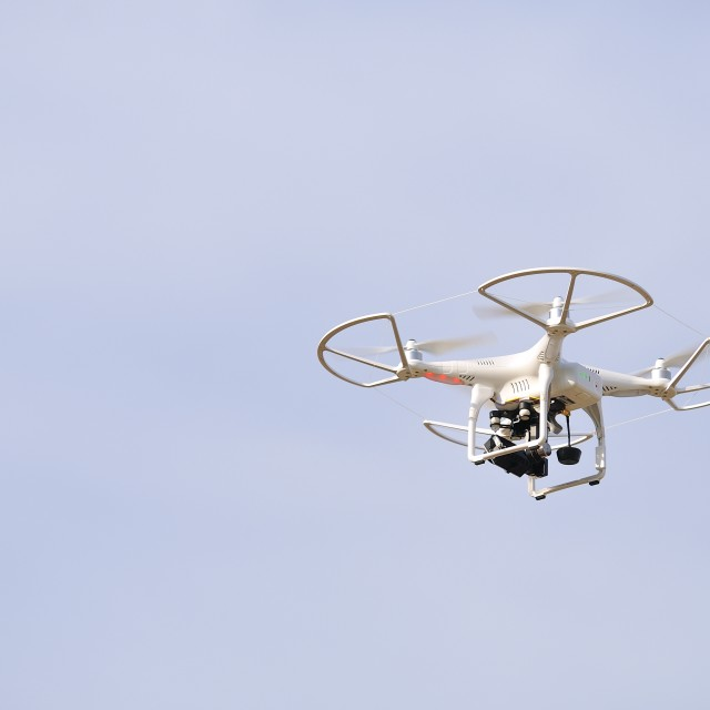 """Drone, unmanned aerial vehicle ."" stock image"