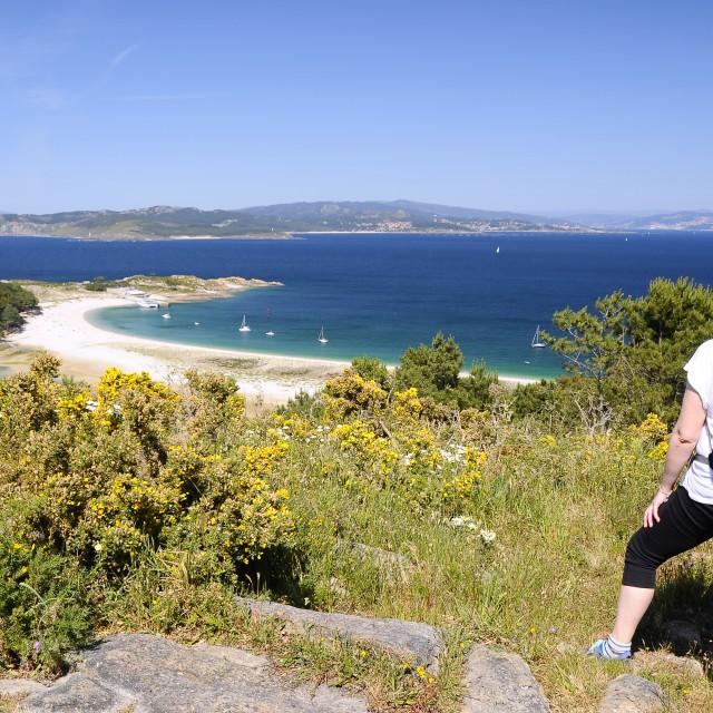 """Cies islands in Vigo, Spain."" stock image"