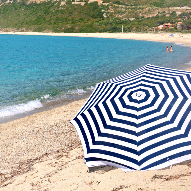 """umbrella on the beach"" stock image"