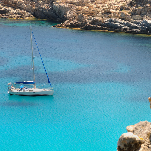 """""""sailing in Corsica"""" stock image"""