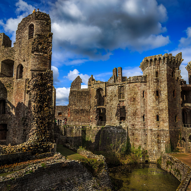 """Raglan castle"" stock image"