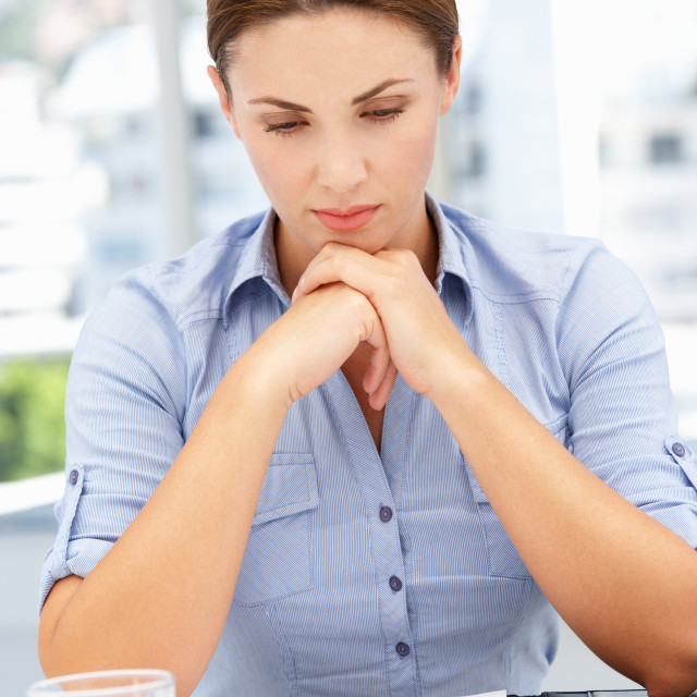 """Unhappy businesswoman"" stock image"