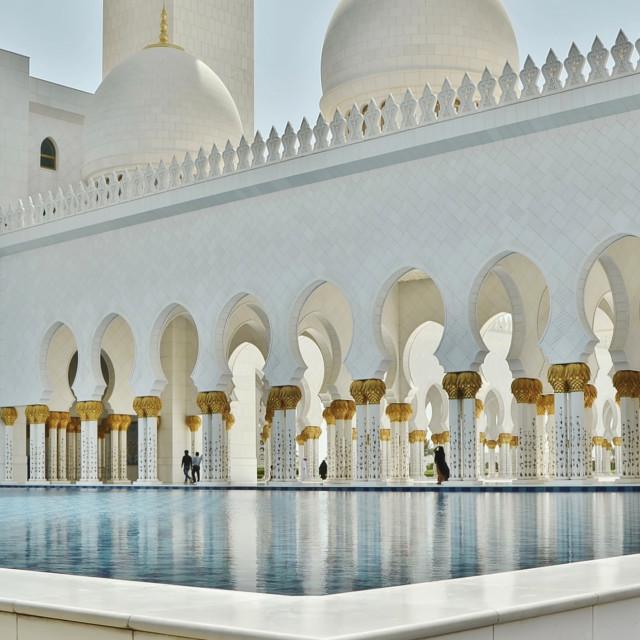 """Abu Dhabi Mosque"" stock image"