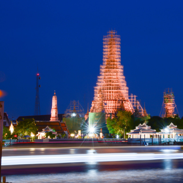 """temple night light"" stock image"