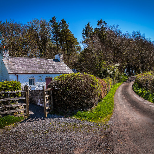 """Cottage by Paxton's tower"" stock image"