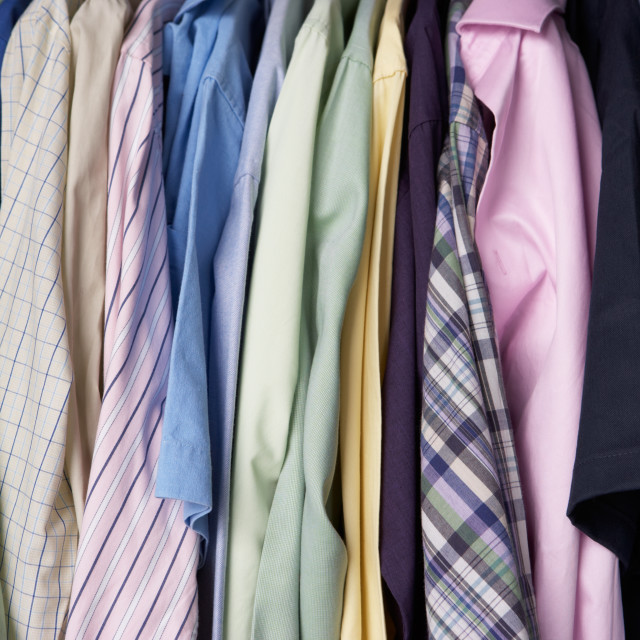 """Rail of men's shirts"" stock image"