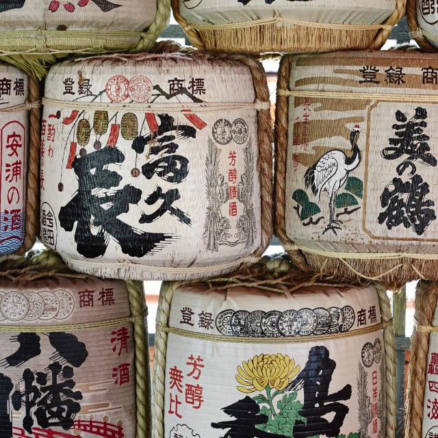 """""""Sake Barrels"""" stock image"""