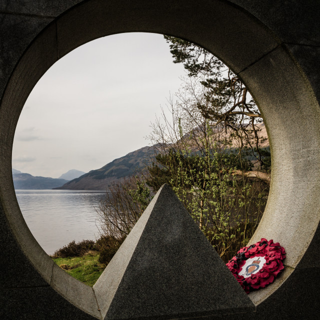 """Loch Lomond National Park Memorial Scultpure"" stock image"