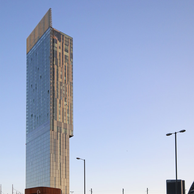 """Beetham Tower, Manchester"" stock image"