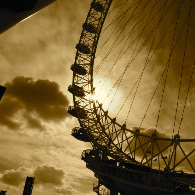 """A Silhouette ferris wheel"" stock image"