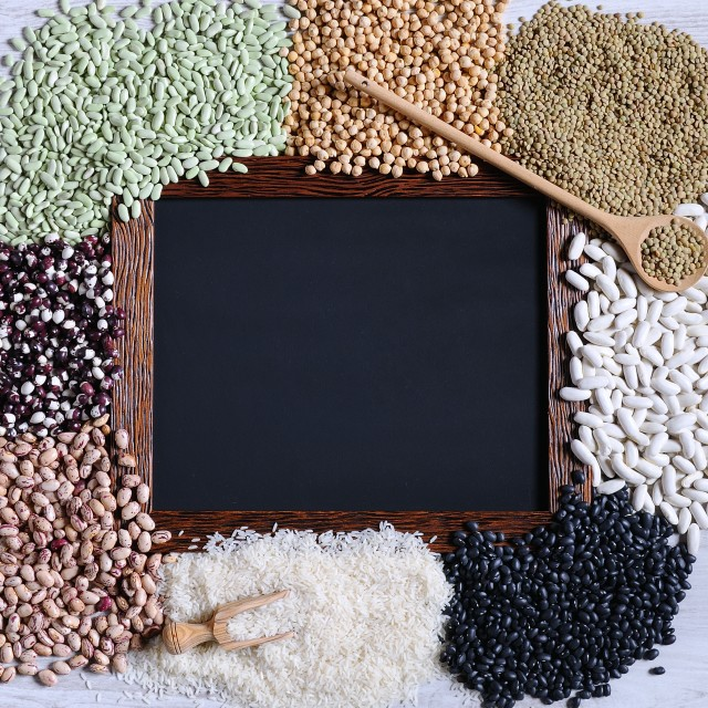"""Legumes with blackboard."" stock image"