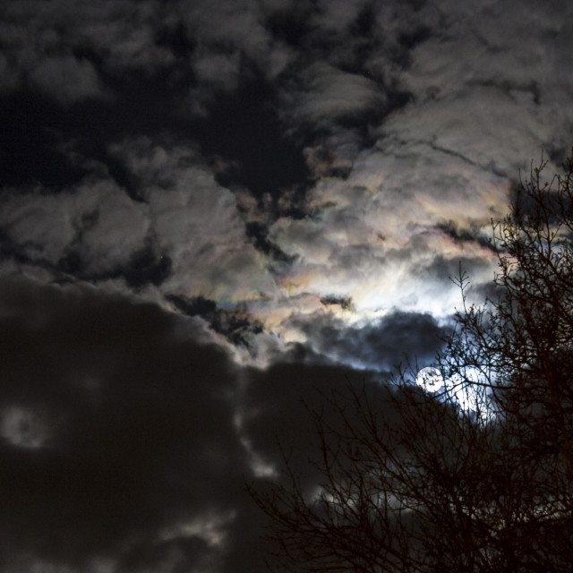 """Rainbows in Moonshine"" stock image"