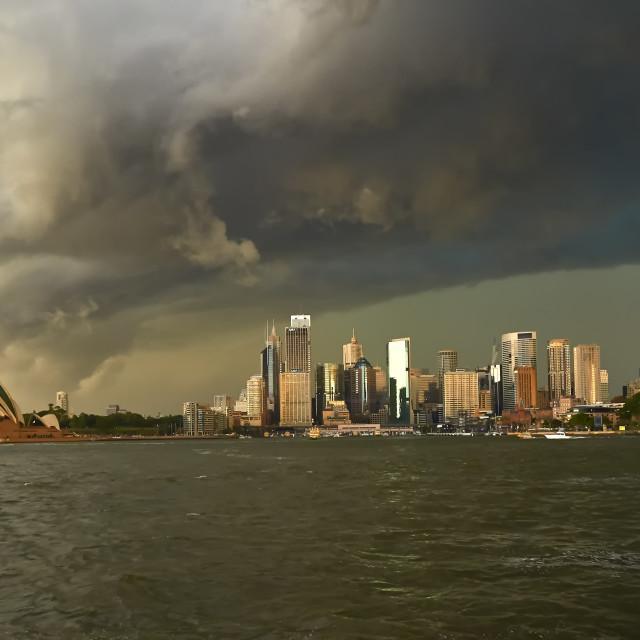 """Sydney Harbour Storm."" stock image"