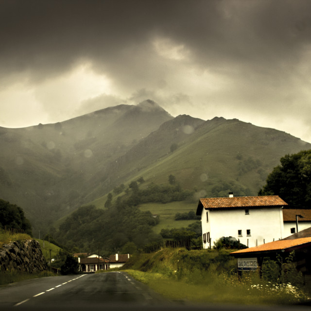 """""""Run up to the Pyrenees"""" stock image"""