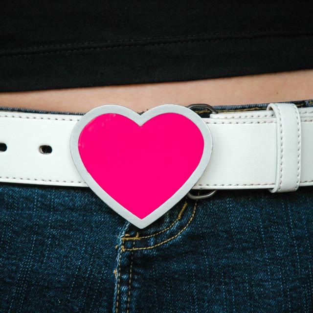 """""""Heart Buckle"""" stock image"""