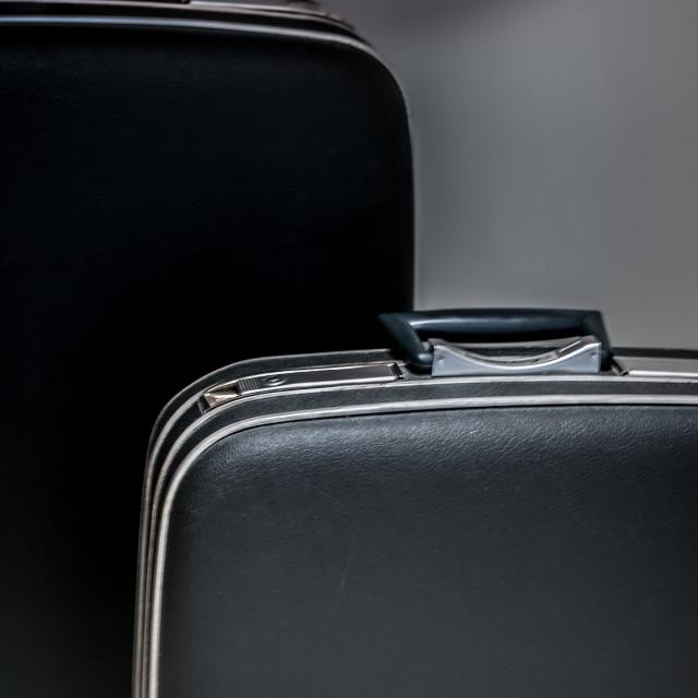 """""""Manly Retro Luggage"""" stock image"""