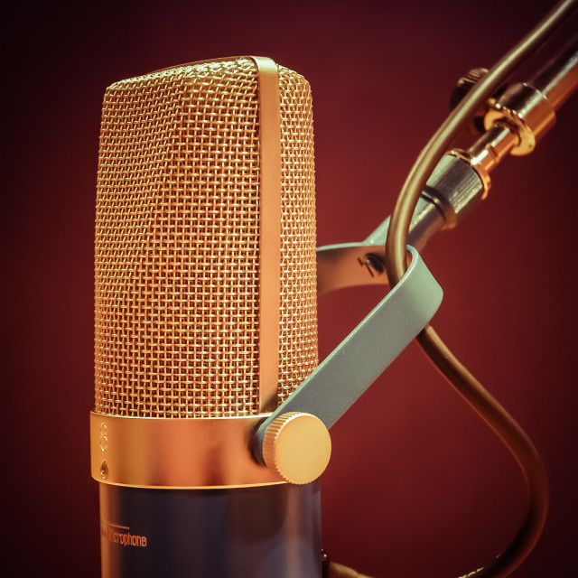 """Studio Microphone"" stock image"