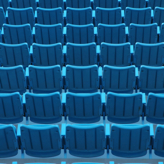 """Blue Stadium Seats"" stock image"