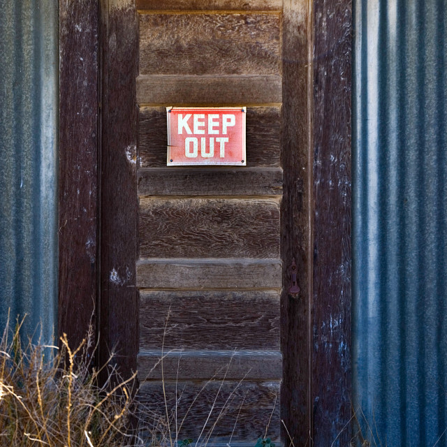 """Keep Out"" stock image"