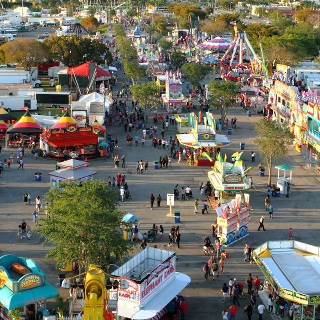 """""""The Fair Seen From Above"""" stock image"""